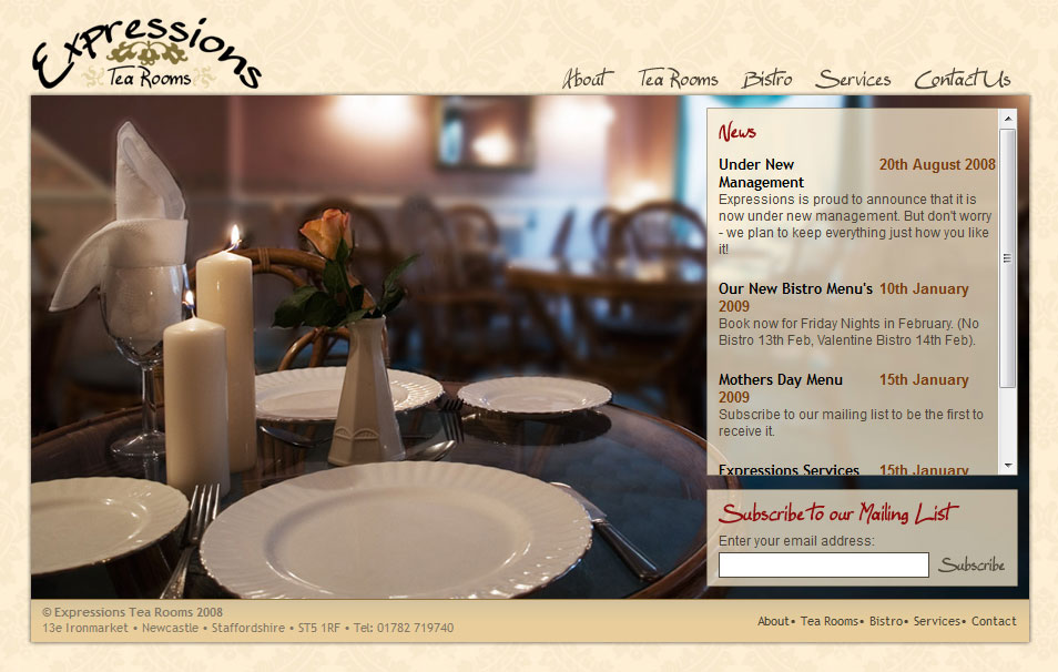 Screenshot 1 of Expressions Tea Rooms