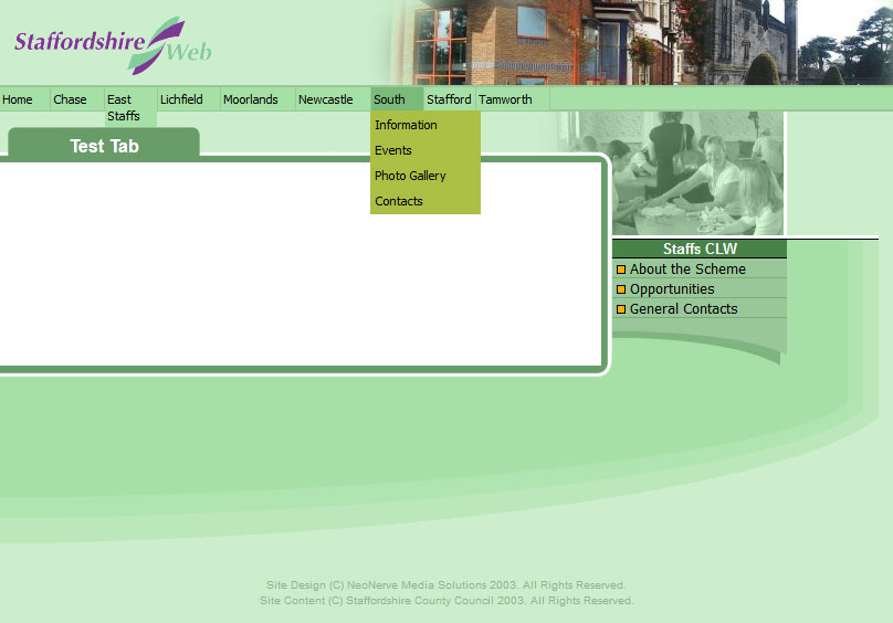 Screenshot 1 of Staffordshire Web